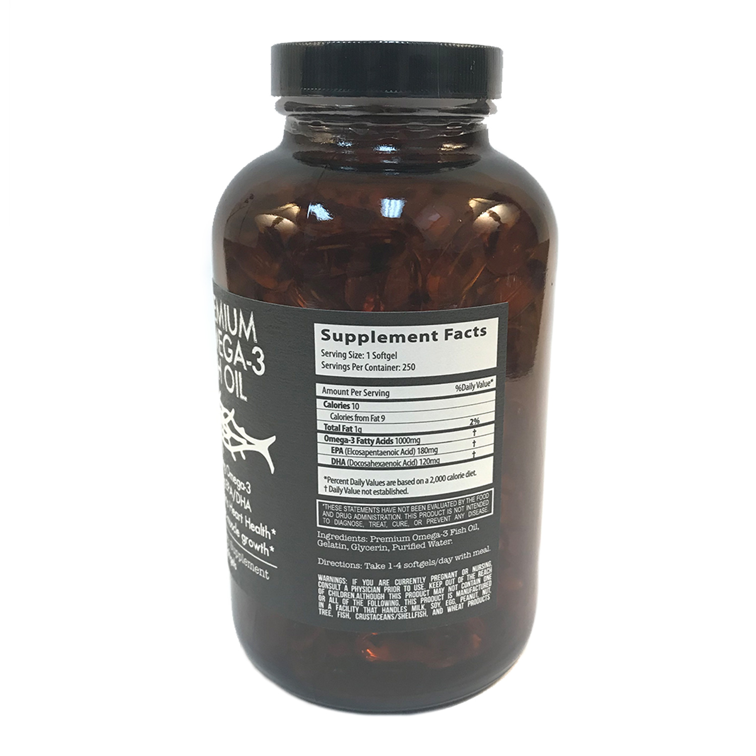 Premium omega 3 fish oil paleopro for Fish with omega 3